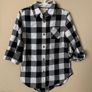 Cat & Jack Girls Plaid Flannel Tunic Size 4-5